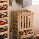 Crate Kitchen organizer Wooden crate Apple crate Vegetable box Vegetable bin Potato bin Potato onion bin Potato storage Fruit crate
