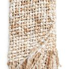 Nordstrom Chunky Mixed Yarn Throw Blanket in Ivory Multi at Nordstrom
