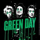 Green Day Single Cork Coaster: Drips