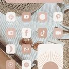 200+ Neutral Tone iOS 14 app icons