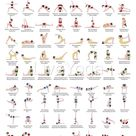 Set of 2 posters - A2 Printable Yoga Poster and A2 Surya namaskar - Sun salutation educational poster - Sanskrit with english translation
