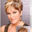 pixie haircut for round face plus size with glasses