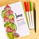 120 Amazing June Bullet Journal Monthly Cover Page Ideas   Bliss Degree