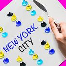 Painting Techniques To Create New York City Landscape || Painting Hacks