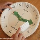 Paper Plate Clock Activity for Learning to Tell Time - Frugal Fun For Boys and Girls