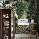 Dark jungle wallpaper, Wild animals wall mural, Wall mural, Leopard, Botanical, Remove wallpaper or traditional #83