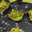 Rezept: Ravioli Verde con Burrata - Grüne Ravioli mit Burrata - gernekochen.de