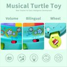 Musical Turtle Toy, English & Spanish Learning