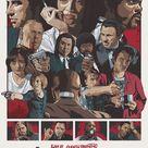 Quentin Tarantino's Pulp Fiction Fan Poster Mini Art Print by Trashmaker