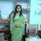 Indian beautiful girl in green saree