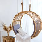 Scandinavian style  hanging chairs for creating the cosiest living room decor