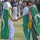 Beautiful Pakistani College Girl With Flag