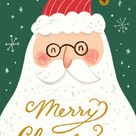Santa portrait - Christmas Card | Greetings Island