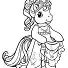 Coloriage Petite princesse poney - Mon Petit Poney