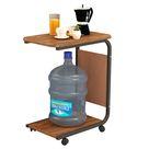 Teetisch mit 4 Rädern Einfaches Sofa Beistelltisch Telefontisch Mini-Aufbewahrungsregal für das Home Office