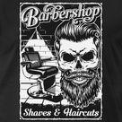 Bart Barbershop Retro Bärtiger Skull   Männer Premium T-Shirt