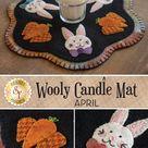 Wooly Candle Mat   April   Wool Kit