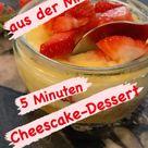 Blitz-Dessert: Erdbeer-Cheesecake