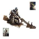 The Mandalorian and Child Speeder Bike - Officially Licensed Star Wars Removable Wall Decal Life-Size Character + 2 Decals (76