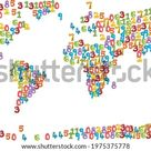 Number Animals Map World Editable Map Stock Vector (Royalty Free) 1975375778