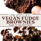 The BEST Vegan Fudge Brownies (gluten-free)