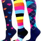 Compression Socks Athletic Men Women Best Graduated Breathable Nursing Socks Fit Running Outdoor Hiking Flight For AM - QMIX003-23 / L-XL