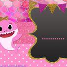 (FREE Printable) – Cute Baby Shark Baby Shower Invitation Templates