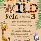 Zoo Birthday Invitation Safari Birthday Invitation Jungle   Etsy