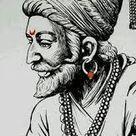 Shivaji maharaj face drawing