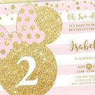 MINNIE MOUSE 2nd Birthday Invitation Twodles, Oh Two-dles Invite, Instant Download PDF template, Toddler invitation, Bdi73