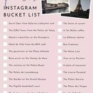 The Paris Instagram Bucket List (2020) - faraway places