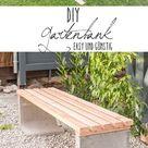 DIY - Gartenbank mit Beton und Holz - Leelah Loves