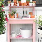 DIY MAKEOVER   Pink Potting Station - I SPY DIY
