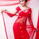 Gril in Red Saree