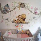 Muurschildering Baby Pooh