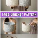 Crochet Waistcoat Basket Free Crochet Pattern   Video