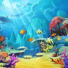 Ocean Fish Underwater World Children Photography Backdrop  LV-476