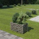 Jardinière à gabion Acier galvanisé 90 x 50 x 50 cm HDV05472 - Hommoo