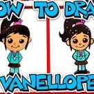 How To Draw Vanellope von Schweetz From Wreck-It Ralph - Art For Kids Hub -