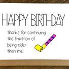 Funny Birthday Card  Birthday Card  Friend Birthday Card  | Etsy