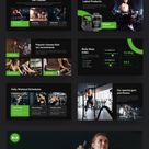 GYMBAS - GYM & Fitness Powerpoint Template #Ad #amp, #Ad, #GYM, #GYMBAS, #Template