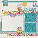 12x12 Easter Sunday Layout Instructions, Digital Download