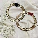 Handmade Temple Collar Necklace - Wine