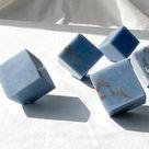 Angelite Cut Cube