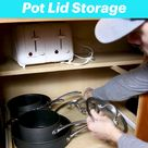 Easy DIY Pot Lid Storage
