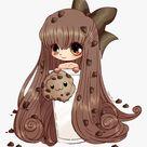 Transparent Chocolate Milk Clipart   Cute Food Anime Girl, HD Png Download , Transparent Png Image   PNGitem