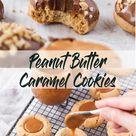 Caramel Peanut Butter Thumbprint Cookies