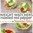 Roasted Red Pepper Hummus Bites - Life is Sweeter By Design