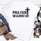 Prayer Warrior - Christian Faith Cross Silhouette Image Men And Women Shirt
