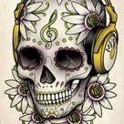 Skull Headphones Tattoo by Sam-Phillips-NZ on DeviantArt